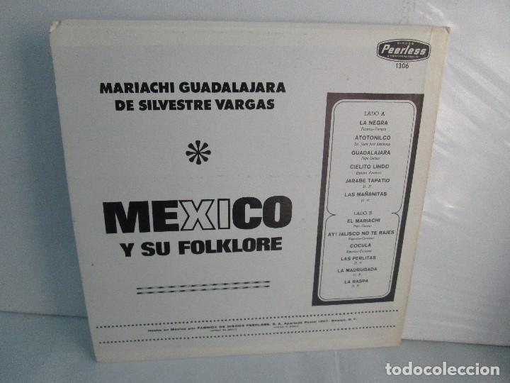 Discos de vinilo: MEXICO Y SU FOLKLORE. MARIACHI GUADALAJARA DE SILVESTRE VARGAS. LP VINILO. VER FOTOGRAFIAS - Foto 9 - 106649123