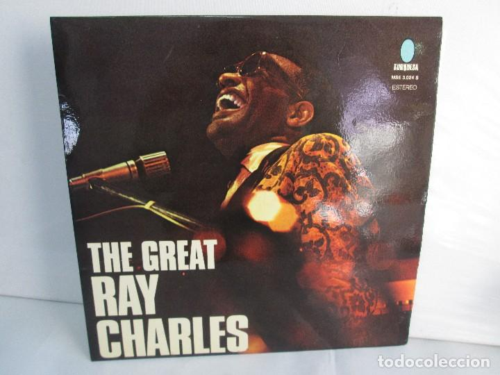 THE GREAT. RAY CHARLES. LP VINILO TURQUESA 1974. VER FOTOGRAFIAS ADJUNTAS (Música - Discos - Singles Vinilo - Jazz, Jazz-Rock, Blues y R&B)
