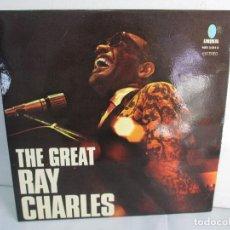 Discos de vinilo: THE GREAT. RAY CHARLES. LP VINILO TURQUESA 1974. VER FOTOGRAFIAS ADJUNTAS. Lote 106652955