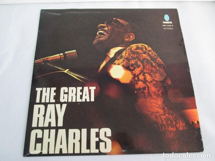 Discos de vinilo: THE GREAT. RAY CHARLES. LP VINILO TURQUESA 1974. VER FOTOGRAFIAS ADJUNTAS - Foto 2 - 106652955