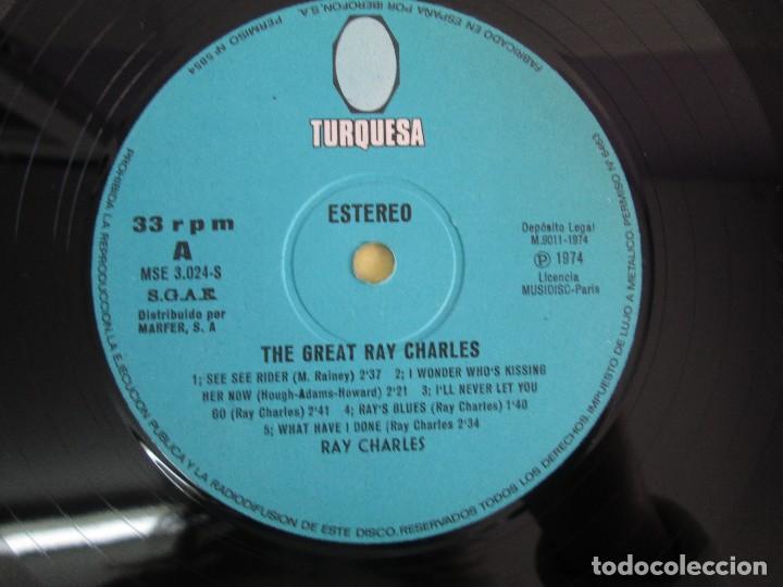 Discos de vinilo: THE GREAT. RAY CHARLES. LP VINILO TURQUESA 1974. VER FOTOGRAFIAS ADJUNTAS - Foto 4 - 106652955