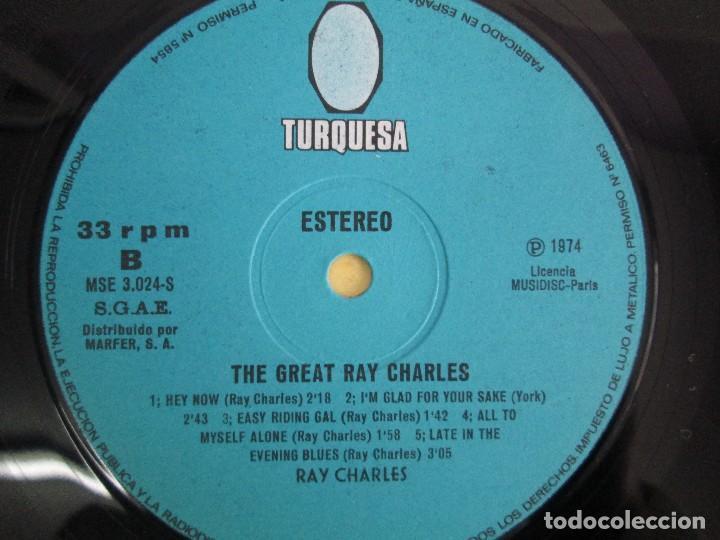 Discos de vinilo: THE GREAT. RAY CHARLES. LP VINILO TURQUESA 1974. VER FOTOGRAFIAS ADJUNTAS - Foto 6 - 106652955