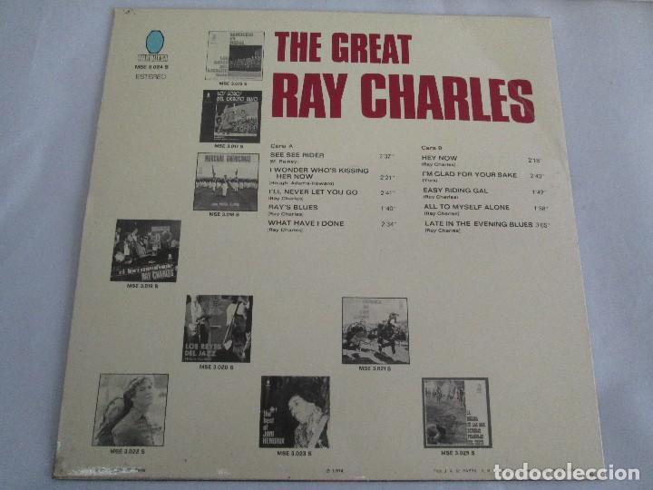 Discos de vinilo: THE GREAT. RAY CHARLES. LP VINILO TURQUESA 1974. VER FOTOGRAFIAS ADJUNTAS - Foto 8 - 106652955