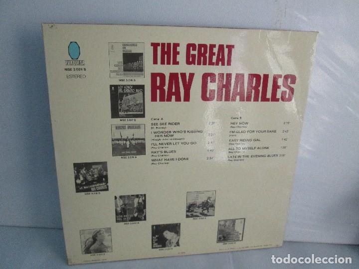 Discos de vinilo: THE GREAT. RAY CHARLES. LP VINILO TURQUESA 1974. VER FOTOGRAFIAS ADJUNTAS - Foto 9 - 106652955