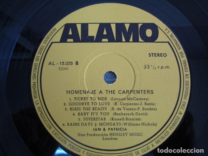 Discos de vinilo: HOMENAJE A CARBENTERS. IAN & PATRICIA. LP VINILO ALAMO 1974. VER FOTOGRAFIAS ADJUNTAS - Foto 4 - 106653615