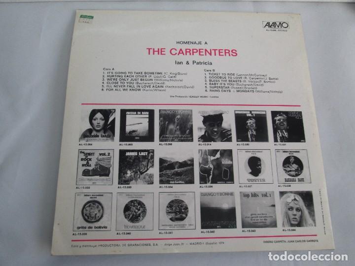 Discos de vinilo: HOMENAJE A CARBENTERS. IAN & PATRICIA. LP VINILO ALAMO 1974. VER FOTOGRAFIAS ADJUNTAS - Foto 8 - 106653615