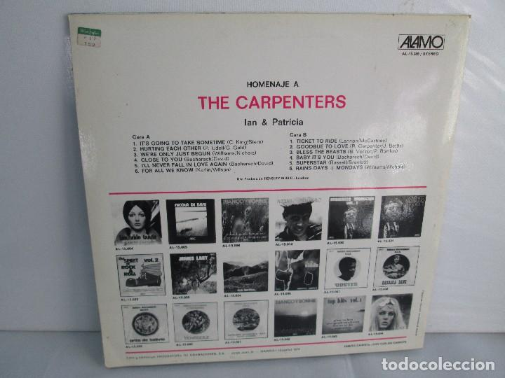Discos de vinilo: HOMENAJE A CARBENTERS. IAN & PATRICIA. LP VINILO ALAMO 1974. VER FOTOGRAFIAS ADJUNTAS - Foto 9 - 106653615