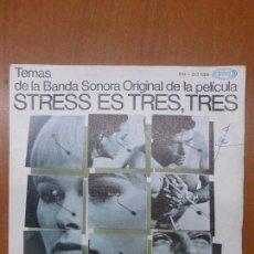 Discos de vinilo: STRESS ES TRES, TRES - BANDA SONORA DEL FILM - SINGLE SELLO SONOPLAY AÑO 1968 EDITADO EN ESPAÑA. Lote 106655039