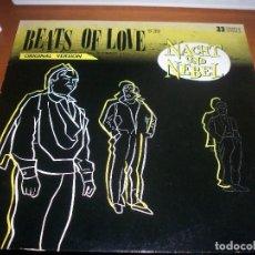 Discos de vinilo: NACHT UND NEBEL. BEATS OF LOVE. VERSION ORIGINAL. EDICION VOGUE DE 1984 (FRANCIA). RARO.. Lote 143971940