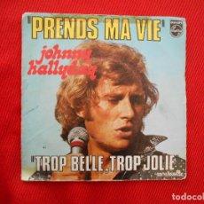 Discos de vinilo: PRENDS MA VIE-JOHNNY HALLYDAY. Lote 106680347