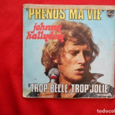 Discos de vinilo: PRENDS MA VIE-JOHNNY HALLYDAY. Lote 106680467
