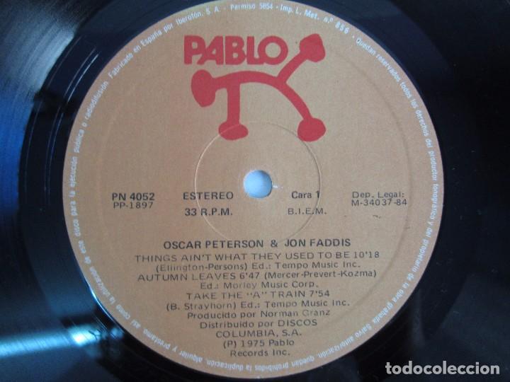 Discos de vinilo: OSCAR PETERSON AND JON FADDIS. LP VINILO. DISCOS COLUMBIA 1975. VER FOTOGRAFIAS ADJUNTAS - Foto 4 - 106701963
