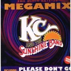 Discos de vinilo: KC & THE SUNSHINE BAND - MEGAMIX / PLEASE DON'T GO - MAXISINGLE 1994 - ED. FRANCIA. Lote 106705091