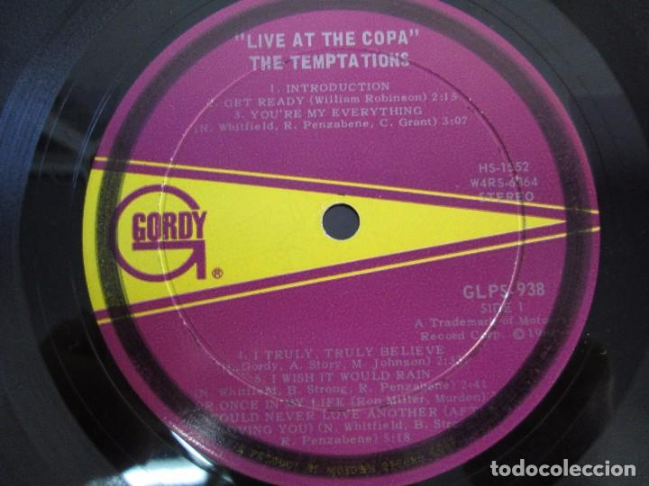 Discos de vinilo: THE TEMPTATIONS LIVE AT THE COPA. LP VINILO. GORDY MOTOWN RECORDS 1968. VER FOTOGRAFIAS - Foto 4 - 106706099