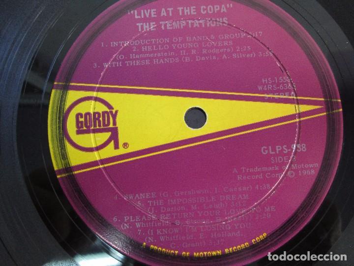 Discos de vinilo: THE TEMPTATIONS LIVE AT THE COPA. LP VINILO. GORDY MOTOWN RECORDS 1968. VER FOTOGRAFIAS - Foto 6 - 106706099
