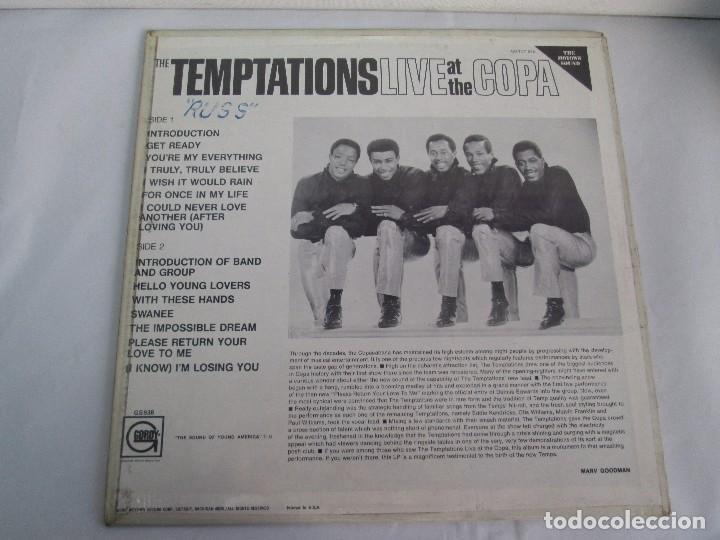 Discos de vinilo: THE TEMPTATIONS LIVE AT THE COPA. LP VINILO. GORDY MOTOWN RECORDS 1968. VER FOTOGRAFIAS - Foto 8 - 106706099
