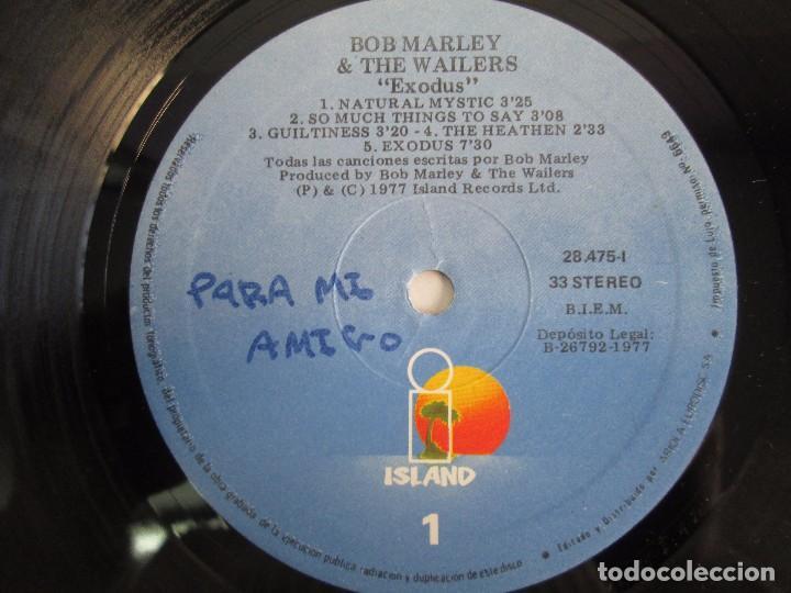 Discos de vinilo: BOB MARLEY & THE WAILERS. EXODUS. LP VINILO ARIOLA EURODISC 1977. VER FOTOGRAFIAS ADJUNTAS - Foto 6 - 106707559