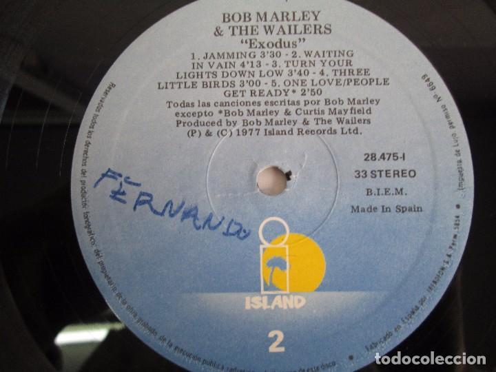 Discos de vinilo: BOB MARLEY & THE WAILERS. EXODUS. LP VINILO ARIOLA EURODISC 1977. VER FOTOGRAFIAS ADJUNTAS - Foto 8 - 106707559