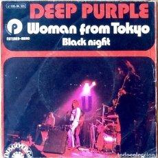 Discos de vinilo: DEEP PURPLE : WOMAN FROM TOKYO [ESP 1973]. Lote 106734451