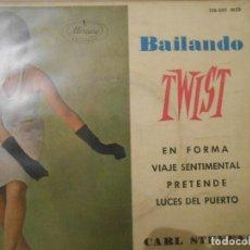 Discos de vinilo: CARL STEVENS Y SU ORQUESTA - BAILANDO TWIST. Lote 106756675