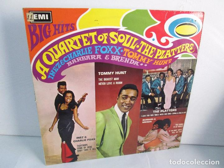 BIG HITS. A QUARTET OF SOUL. THE PLATTERS. LP VINILO EMI RECORDS 1967. VER FOTOGRAFIAS ADJUNTAS (Música - Discos - Singles Vinilo - Jazz, Jazz-Rock, Blues y R&B)