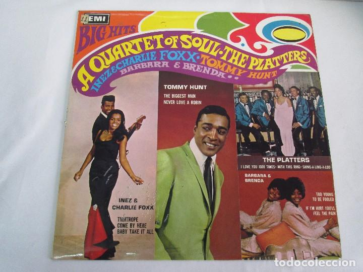 Discos de vinilo: BIG HITS. A QUARTET OF SOUL. THE PLATTERS. LP VINILO EMI RECORDS 1967. VER FOTOGRAFIAS ADJUNTAS - Foto 2 - 106779407