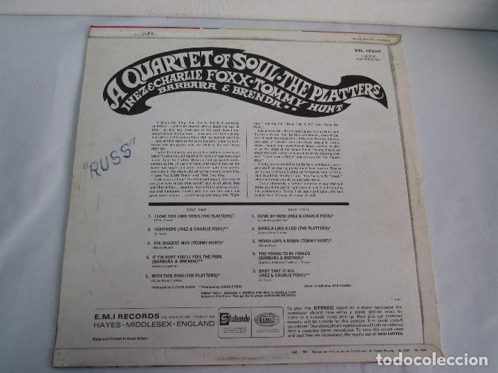Discos de vinilo: BIG HITS. A QUARTET OF SOUL. THE PLATTERS. LP VINILO EMI RECORDS 1967. VER FOTOGRAFIAS ADJUNTAS - Foto 8 - 106779407