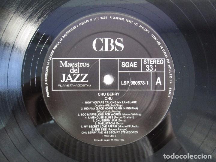 Discos de vinilo: CHU BERRY. MAESTROS DEL JAZZ. LP VINILO. DISCOS CBS 1989. VER FOTOGRAFIAS ADJUNTAS - Foto 4 - 106782295