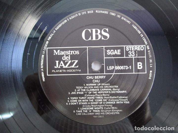 Discos de vinilo: CHU BERRY. MAESTROS DEL JAZZ. LP VINILO. DISCOS CBS 1989. VER FOTOGRAFIAS ADJUNTAS - Foto 6 - 106782295