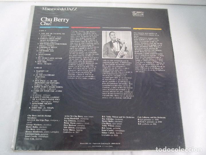 Discos de vinilo: CHU BERRY. MAESTROS DEL JAZZ. LP VINILO. DISCOS CBS 1989. VER FOTOGRAFIAS ADJUNTAS - Foto 7 - 106782295
