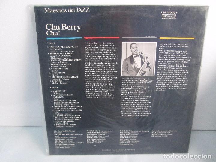 Discos de vinilo: CHU BERRY. MAESTROS DEL JAZZ. LP VINILO. DISCOS CBS 1989. VER FOTOGRAFIAS ADJUNTAS - Foto 9 - 106782295