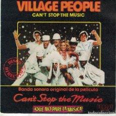 Discos de vinilo: VILLAGE PEOPLE - CAN'T STOP THE MUSIC / MILKSHAKE (SINGLE ESPAÑOL, RCA RECORDS 1980). Lote 106896079