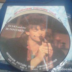 Discos de vinilo: ECHO AND THE BUNNYMEN INTERVIEW PICTURE DISC LIMITED EDITION DE LOS 80 - BAK 2010. Lote 106903715