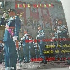 Discos de vinilo: HIMNOS MILITARES SINGLE VINILO. Lote 106919103