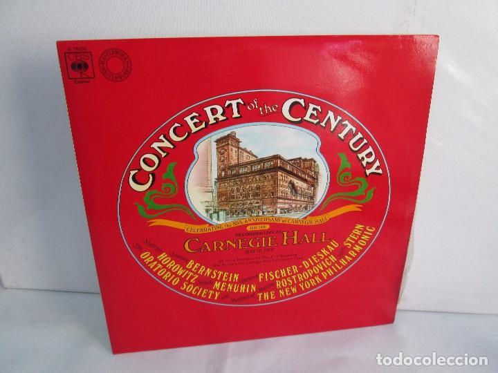 CONCERT OF THE CENTURY. CARNEGIE HALL. 2 LP VINILO. DISCOS CBS 1977. VER FOTOGRAFIAS ADJUNTAS (Música - Discos - Singles Vinilo - Clásica, Ópera, Zarzuela y Marchas)