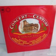 Discos de vinilo: CONCERT OF THE CENTURY. CARNEGIE HALL. 2 LP VINILO. DISCOS CBS 1977. VER FOTOGRAFIAS ADJUNTAS. Lote 106921167