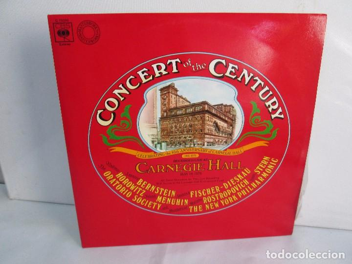 Discos de vinilo: CONCERT OF THE CENTURY. CARNEGIE HALL. 2 LP VINILO. DISCOS CBS 1977. VER FOTOGRAFIAS ADJUNTAS - Foto 2 - 106921167