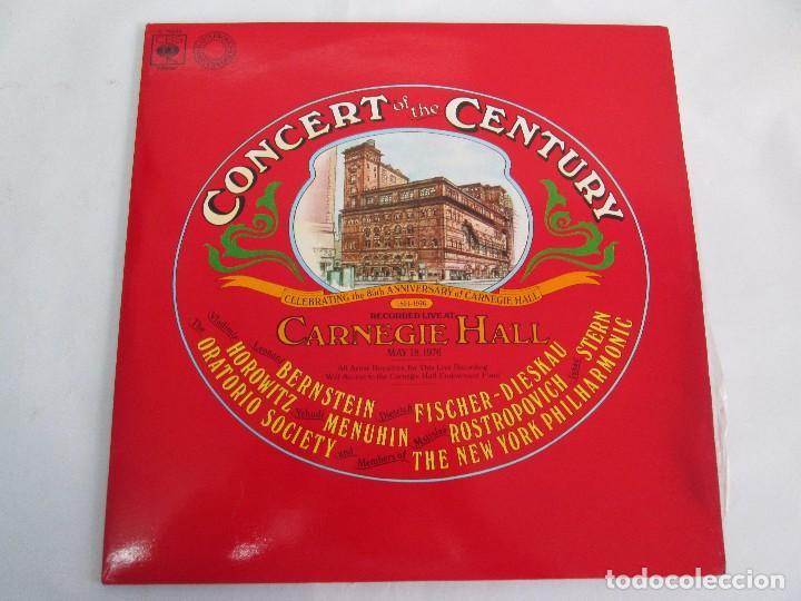 Discos de vinilo: CONCERT OF THE CENTURY. CARNEGIE HALL. 2 LP VINILO. DISCOS CBS 1977. VER FOTOGRAFIAS ADJUNTAS - Foto 3 - 106921167