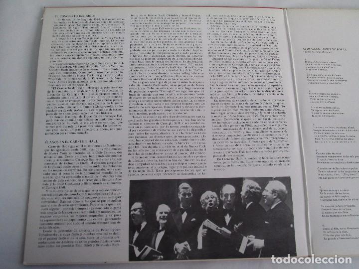 Discos de vinilo: CONCERT OF THE CENTURY. CARNEGIE HALL. 2 LP VINILO. DISCOS CBS 1977. VER FOTOGRAFIAS ADJUNTAS - Foto 4 - 106921167