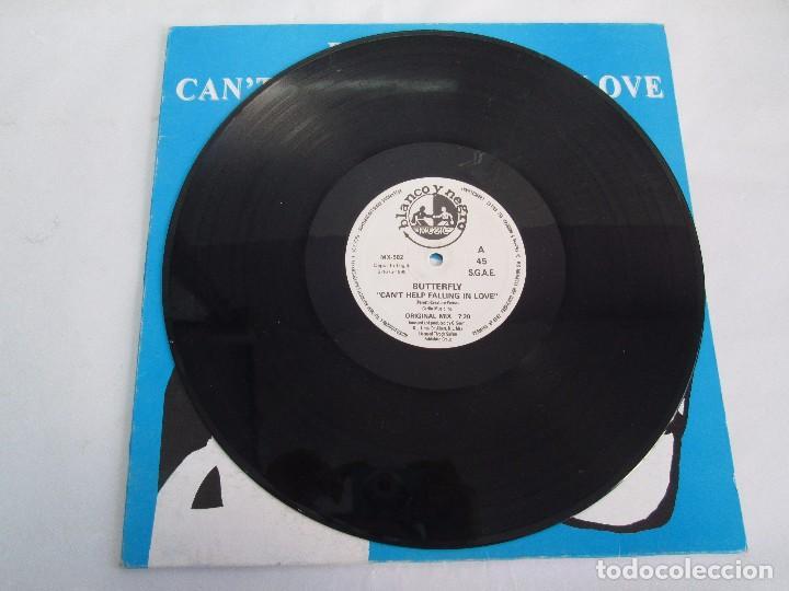 Discos de vinilo: BUTTERFLY. CAN´T HELP FALLING IN LOVE. EP VINILO BLANCO Y NEGRO 1995. VER FOTOGRAFIAS ADJUNTAS - Foto 5 - 106922927
