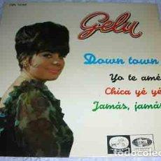 Discos de vinilo: GELU - DOWN TOWN + 3 - EP 1965. Lote 106929347