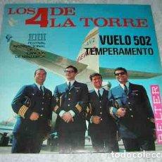Discos de vinilo: LOS 4 DE LA TORRE - VUELO 502 - SINGLE. Lote 106929519