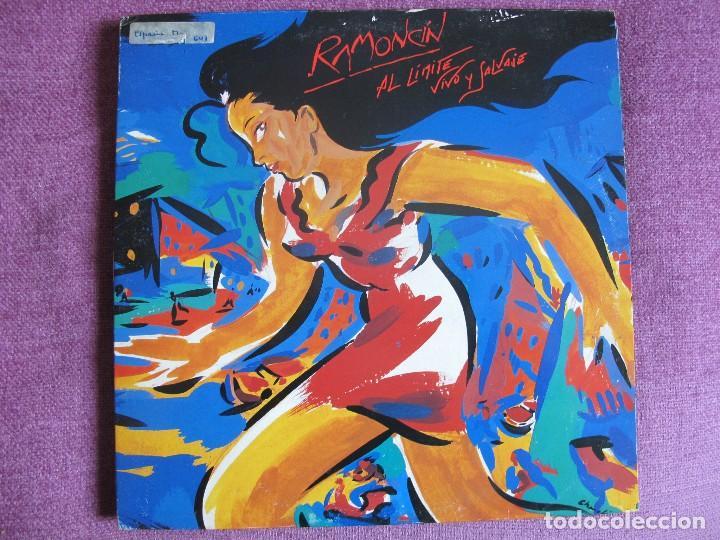 LP - RAMONCIN - AL LIMITE VIVO Y SALVAJE (DOBLE DISCO, SPAIN, RCA RECORDS 1990) CONTIENE ENCARTES (Música - Discos - LP Vinilo - Solistas Españoles de los 70 a la actualidad)