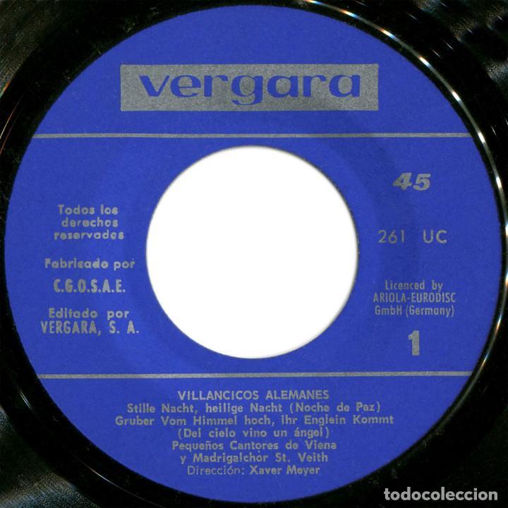 Discos de vinilo: Los Pequeños Cantores de Viena ?– Noche de Paz (Villancicos Alemanes) - Ep Spain 1969 - Vergara ? - Foto 3 - 106964451
