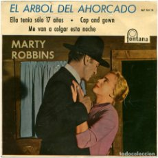 Discos de vinilo: MARTY ROBBINS - EL ARBOL DEL AHORCADO - EP SPAIN 1960 - FONTANA 467154 TE - VINILO AZUL. Lote 106970599