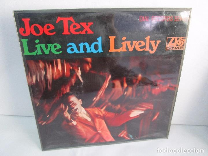JOE TEX. LIVE AND LIVELY. LP VINILO. ATLANTIC 1968. VER FOTOGRAFIAS ADJUNTAS. (Música - Discos - Singles Vinilo - Jazz, Jazz-Rock, Blues y R&B)