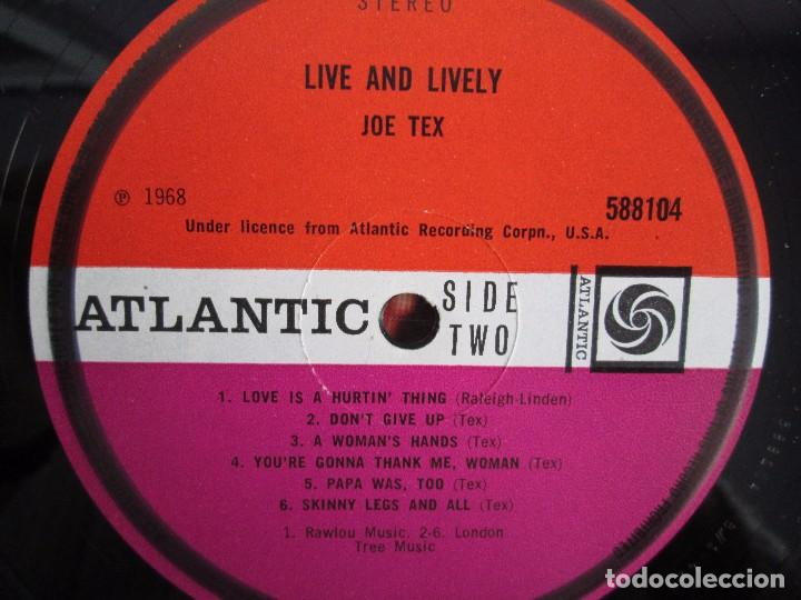 Discos de vinilo: JOE TEX. LIVE AND LIVELY. LP VINILO. ATLANTIC 1968. VER FOTOGRAFIAS ADJUNTAS. - Foto 6 - 107006263