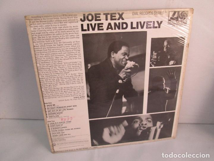 Discos de vinilo: JOE TEX. LIVE AND LIVELY. LP VINILO. ATLANTIC 1968. VER FOTOGRAFIAS ADJUNTAS. - Foto 9 - 107006263