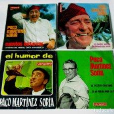 Disques de vinyle: PACO MARTINEZ SORIA - LOTE 4 SINGLES - CUENTOS BATURROS 1 Y 2 - EL HUMOR DE - EL TAXISTA CAYETANO. Lote 107010475
