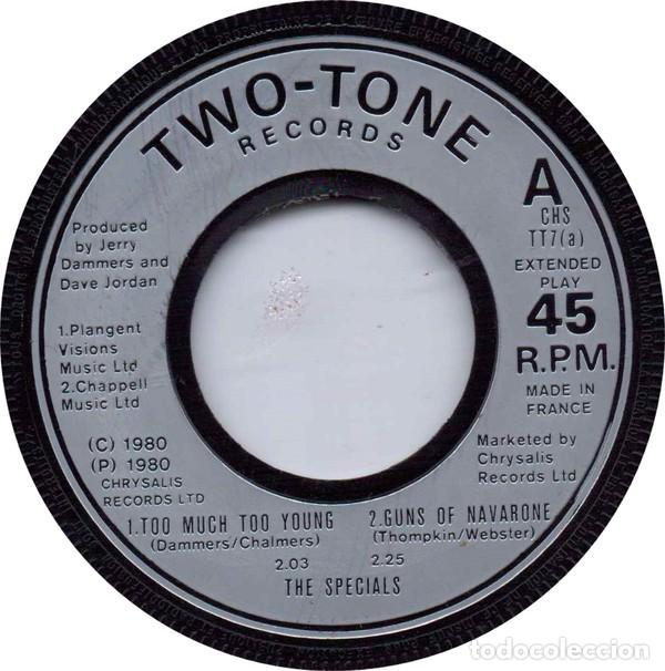 Discos de vinilo: The Specials ‎– Too Much Too Young / Guns Of Navarone + 3 - Two Tone CHS TT7 - 1980 - Foto 1 - 107045127